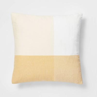 Oversized Square Check Pillow Yellow/White - Threshold™