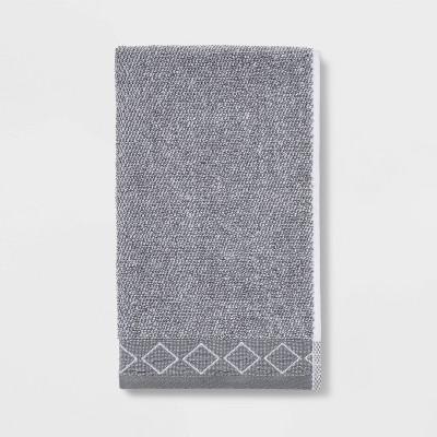 Diamond Band Terry Hand Towel Gray - Threshold™