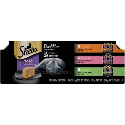 SHEBA Chicken, Salmon & Turkey Pate Wet Cat Food - 18ct - image 1 of 4
