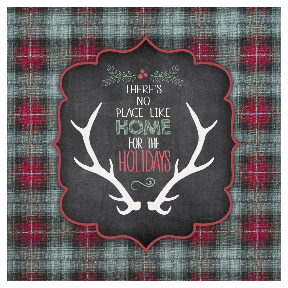 Thirstystone Rustic Christmas Coasters Set of 4 - Home for the Holidays, Multi-Colored