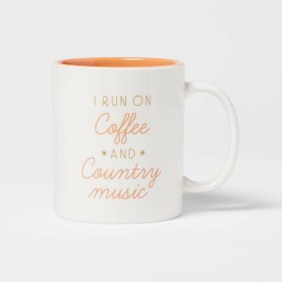 15oz Stoneware I Run On Coffee and Country Music Mug - Room Essentials™