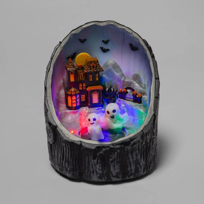 """6"""" Animated Halloween Log Scene - Hyde & EEK! Boutique™"""