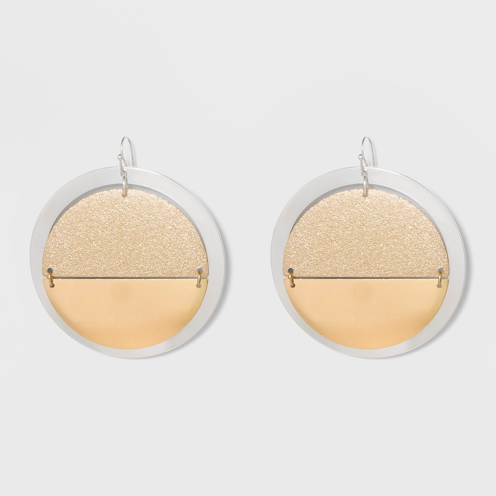 Open Ring, and Diamond Dust Disc Earrings - A New Day Gold/Silver