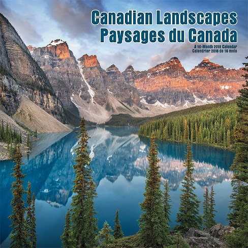 2018 Canadian Landscapes/Paysages du Canada Bilingual (French) Wall Calendar -Trends International - image 1 of 4