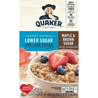 Oatmeal: Quaker Instant Lower Sugar