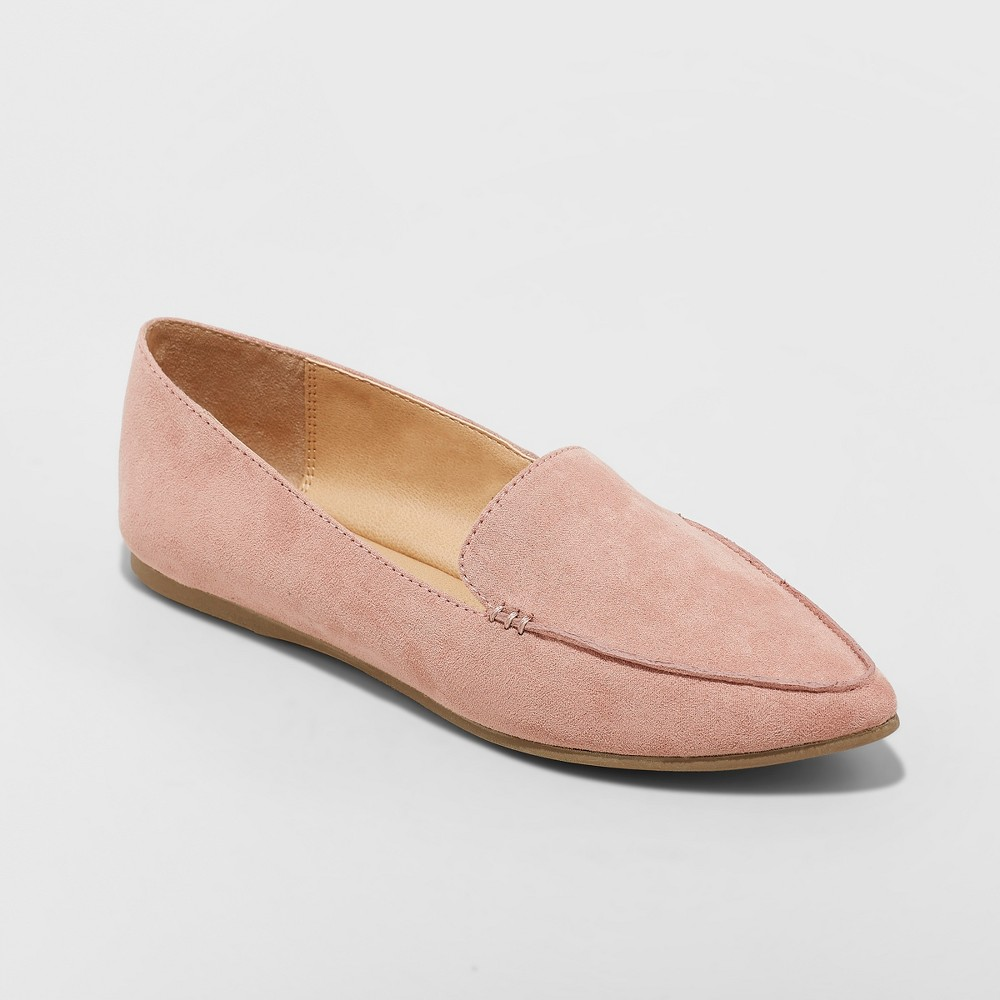 Women's Micah Pointy Toe Loafers - A New Day Blush 9