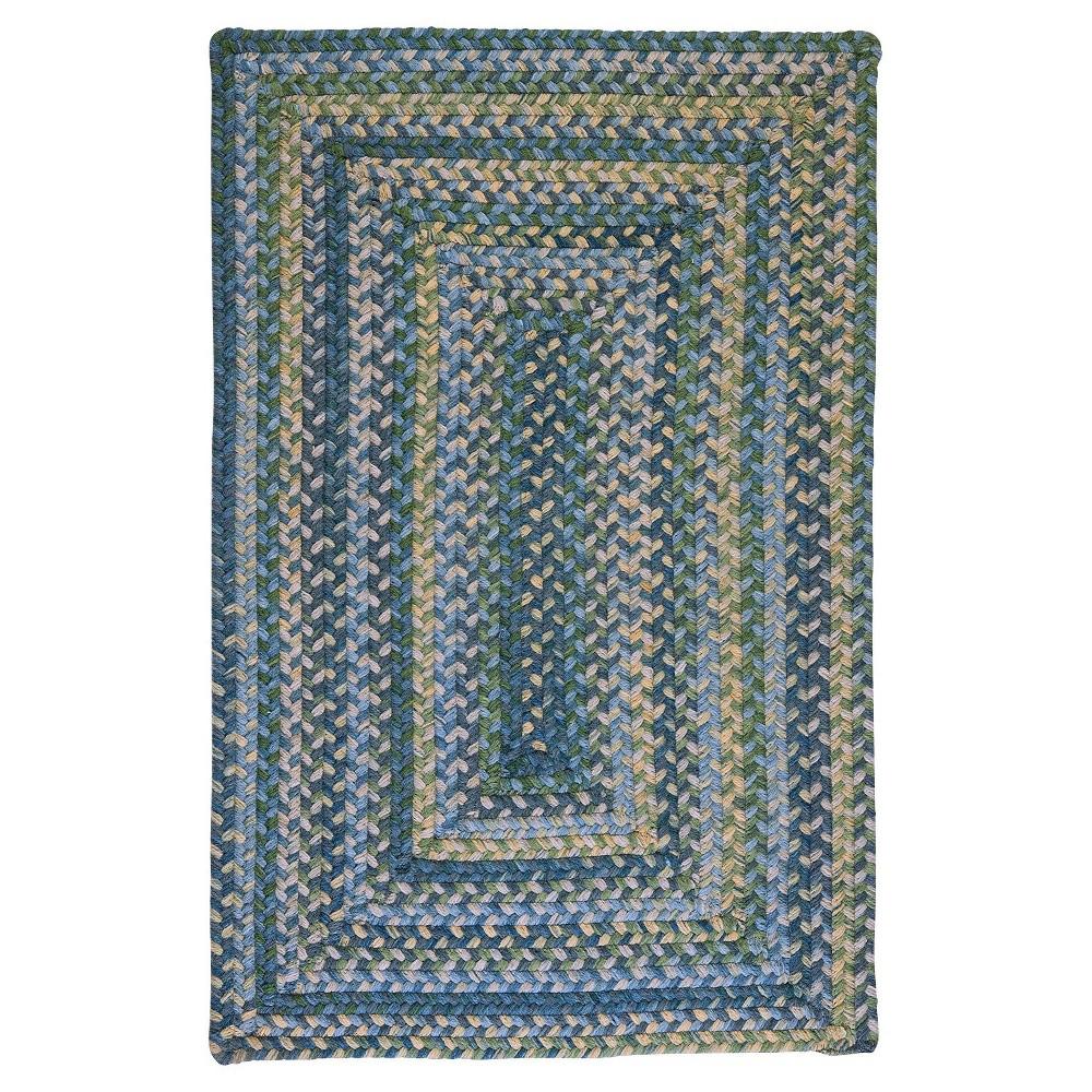 Ridgevale Spacedye Wool Braided Area Rug - Whipple Blue - (7'x9') - Colonial Mills
