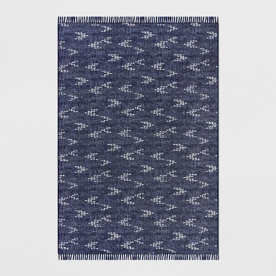 7' x 10' Staccato Outdoor Rug Navy - Threshold™
