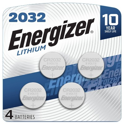 Energizer 4pk 2032 Batteries Lithium Coin Battery