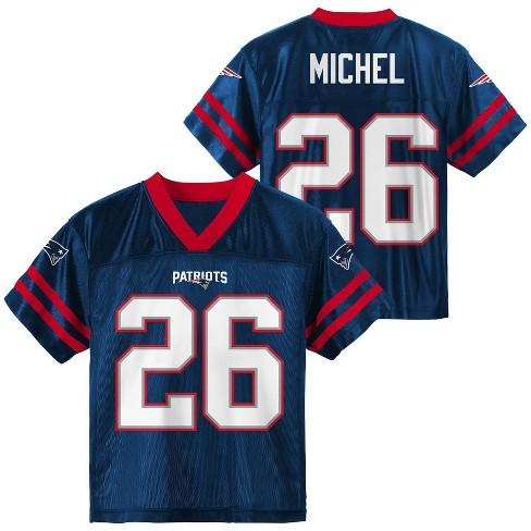 NFL New England Patriots Boys' Sony Michel Short Sleeve Jersey - XS