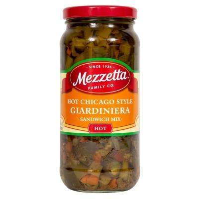 Mezzetta Chicago Style Hot Giardiniera Italian Sandwich Mix - 16oz