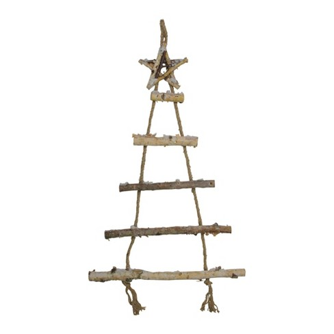 """Northlight 32"""" Natural 5-Tier Wall Hanging Twig Tree With Star Christmas Decoration : Target"""