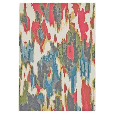 "2'2""x4' Tie Dye Design Woven Accent Rugs Sorbet - Weave & Wander"