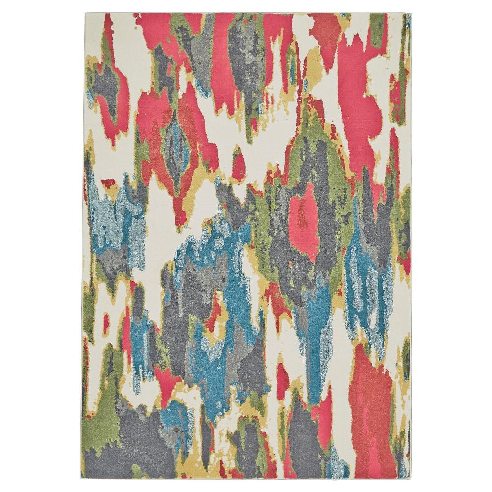 8'X11' Tie Dye Design Woven Area Rugs Sorbet - Room Envy, Red