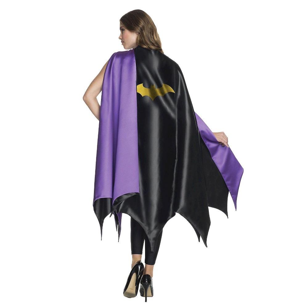 DC Comics Women's Batgirl Deluxe Costume Cape, Black