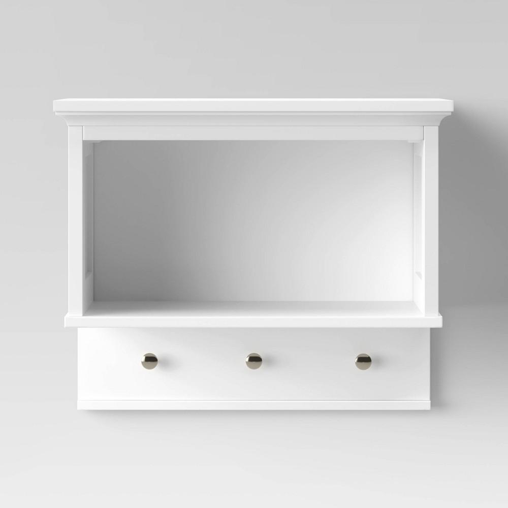 Wall Shelf With Hooks White Threshold 8482