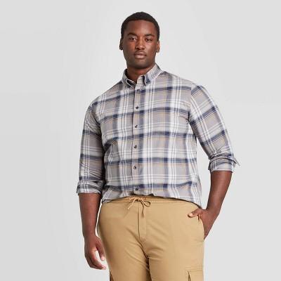 2XB Men/'s Big /& Tall Red Plaid Poplin Long Sleeve Button Down Shirt 2x NEW
