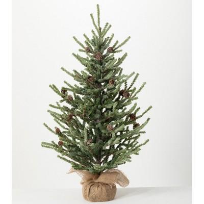 "Sullivans 2'10"" Snow Pine Artificial Tree 34""H Green"