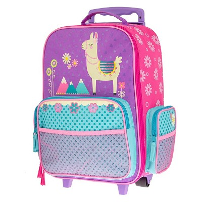 Stephen Joseph Fun Kids Themed Classic Rolling Luggage Polyester Carry On Suitcase with Multiple Pockets and Extendable Handle, Llama