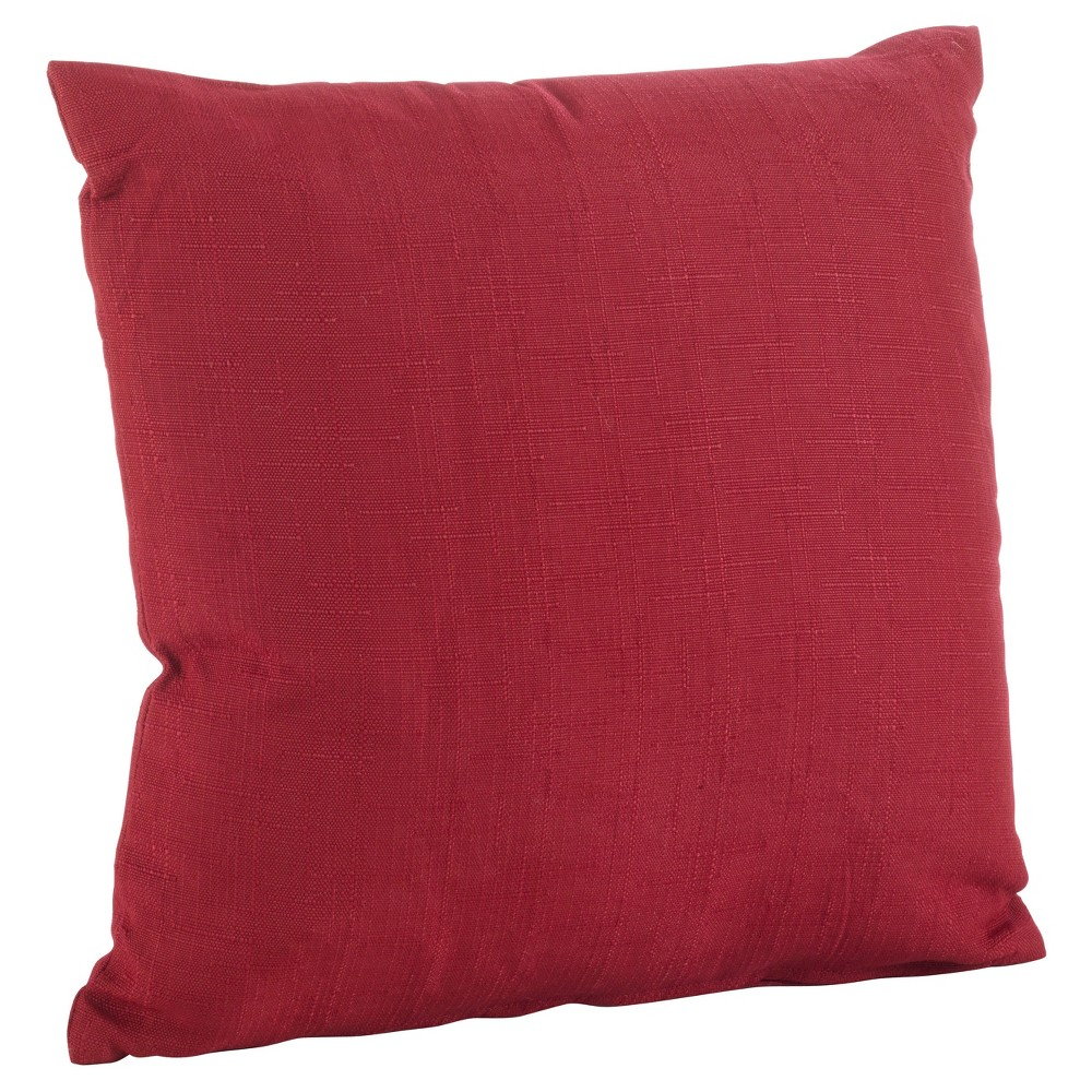 Red Indoor/Outdoor Throw Pillow (21) - Saro Lifestyle, Sangria Red