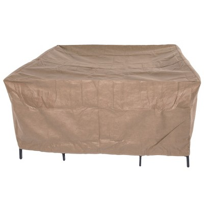 76 L Essential Square Patio Table u0026 Chair Set Cover Cafe Latte - Classic Accessories  Target  sc 1 st  Target & 76