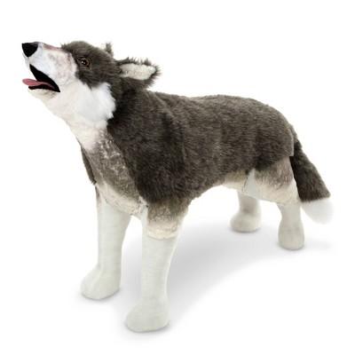 Melissa & Doug Giant Lifelike Standing Stuffed Animal - Gray Wolf