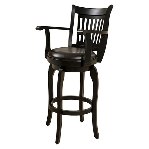 "30"" Prescott Bonded Leather Swivel Barstool with Arms - Espresso - Christopher Knight Home - image 1 of 4"