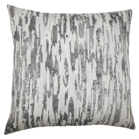 """Gray Square Throw Pillow (20""""x20"""") - The Pillow Collection - image 1 of 1"""