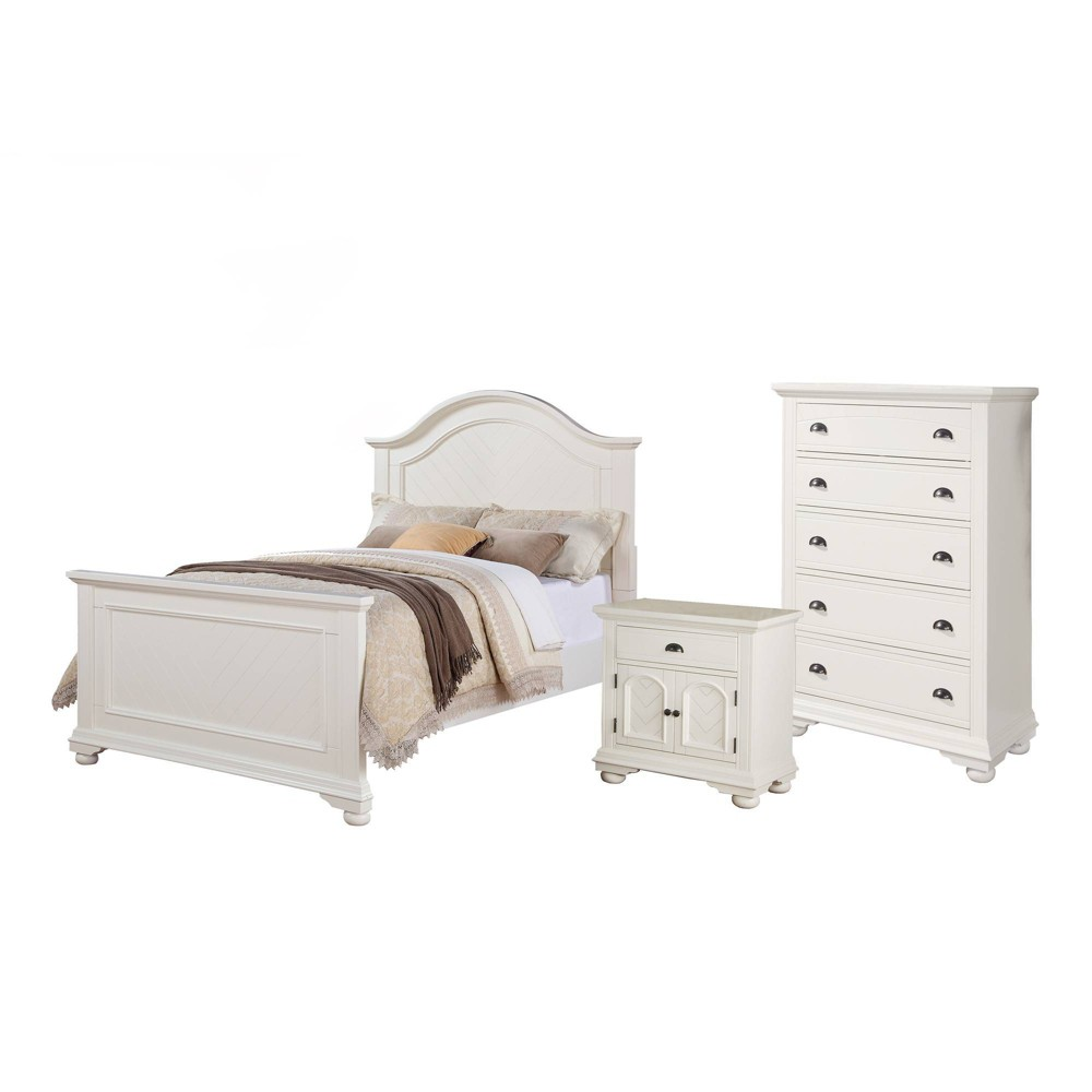 Image of 3pc Full Addison Panel Bedroom Set Dove White - Picket House Furnishings