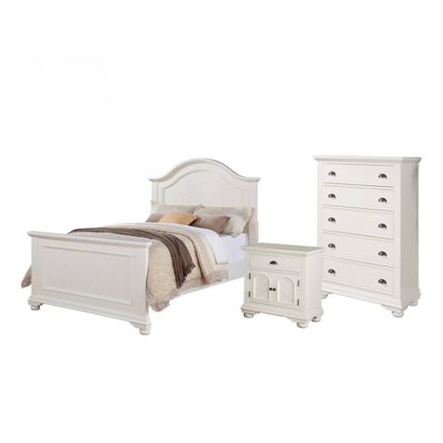 4pc Addison Panel Bedroom Set White