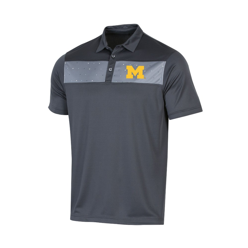 NCAA Men's Short Sleeve Polo Shirt Michigan Wolverines - S, Multicolored