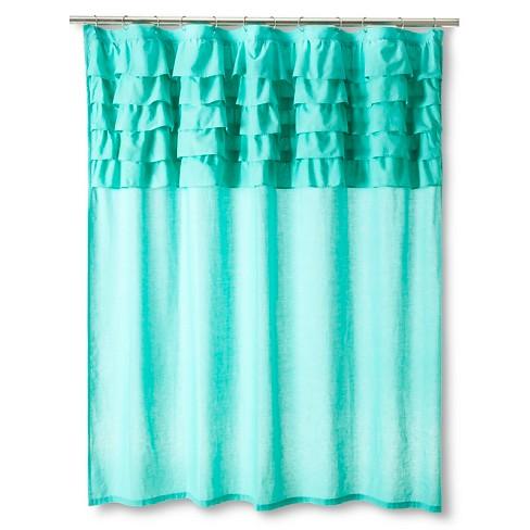 Boho Boutique Ruffle Shower Curtains