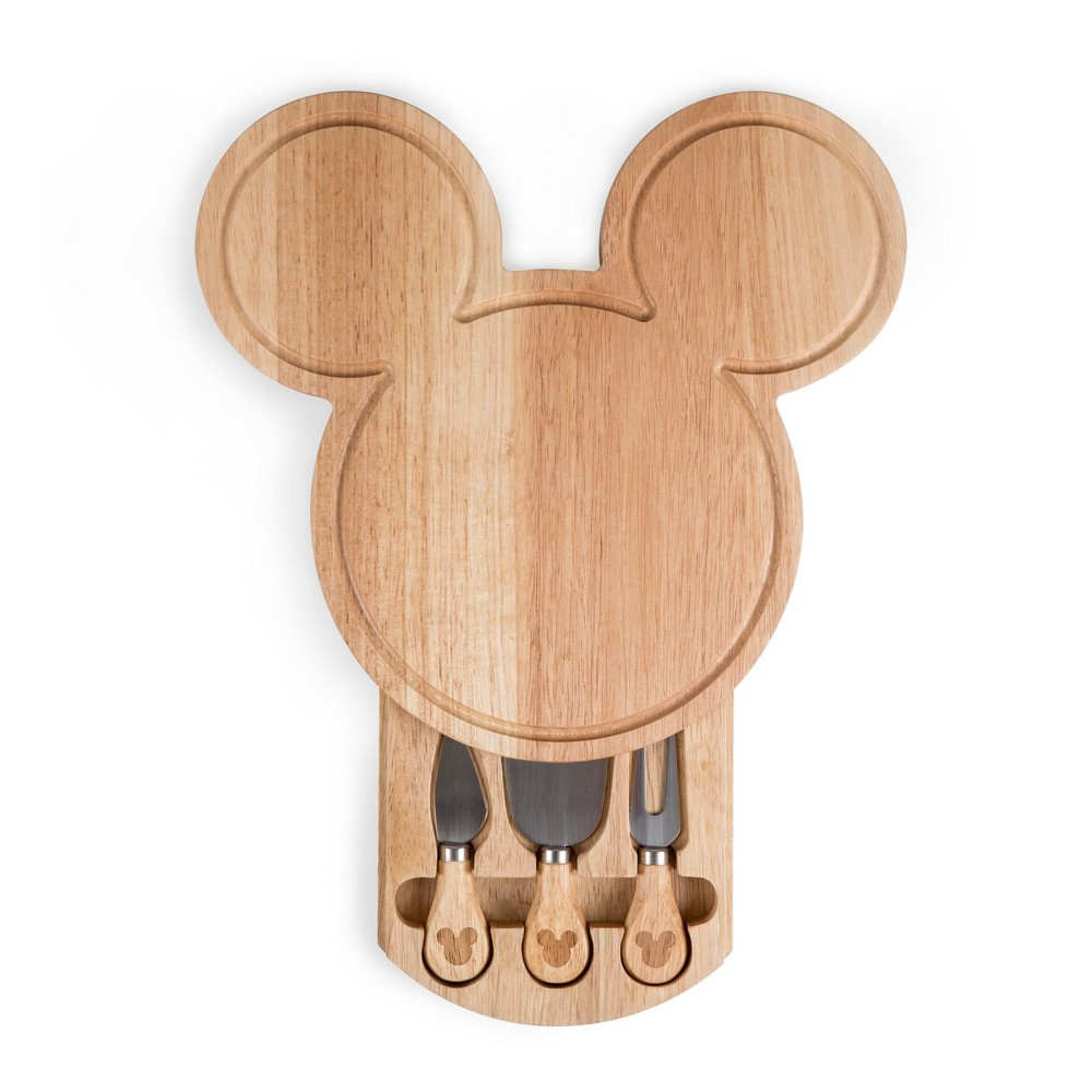 Disney Mickey Mouse Wood Cheese Board with Tool Set by Picnic Time, Brown