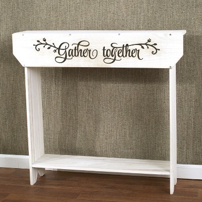"""Lakeside Farmhouse Sentiment Console Table - """"Gather Together"""" - Rustic Country Decor"""
