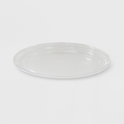 "4.9"" x .35"" Glass Plate Candle Holder Clear - Made By Design™"