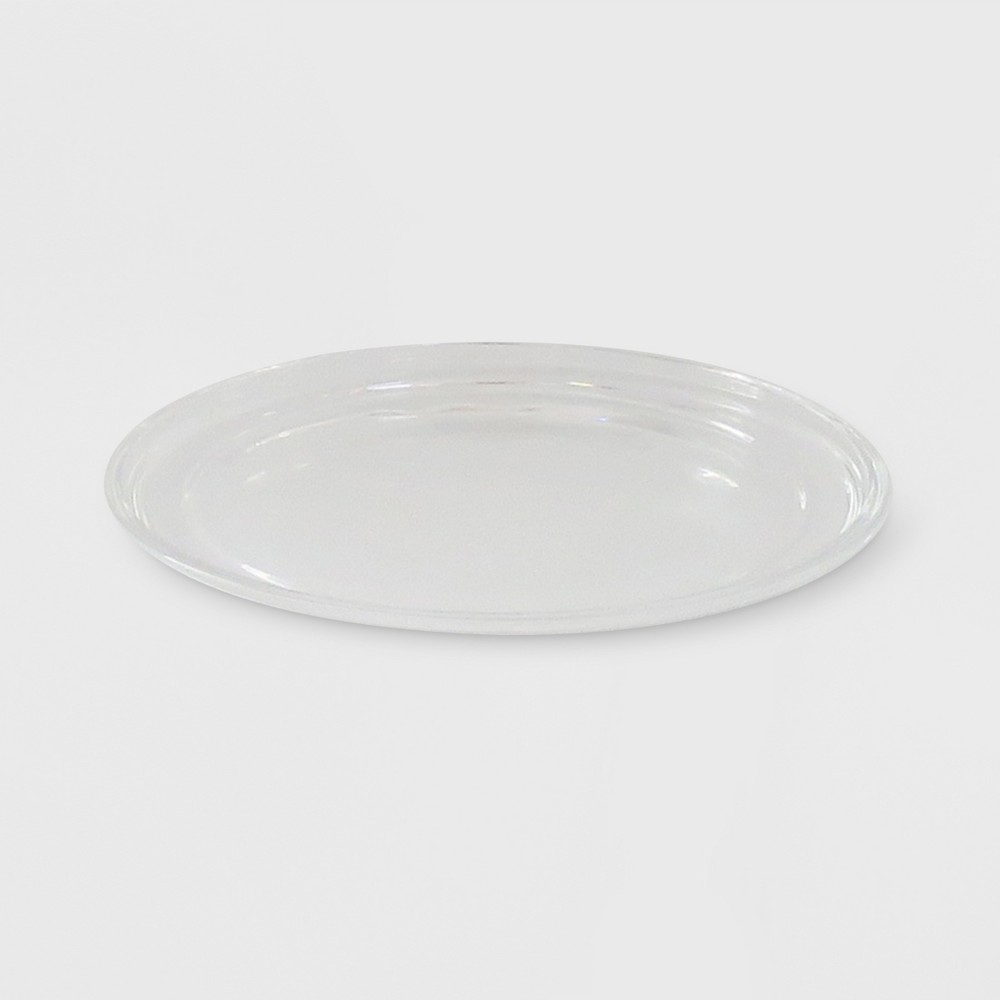"""Image of """"4.9"""""""" x .35"""""""" Glass Plate Candle Holder Clear - Made By Design"""""""