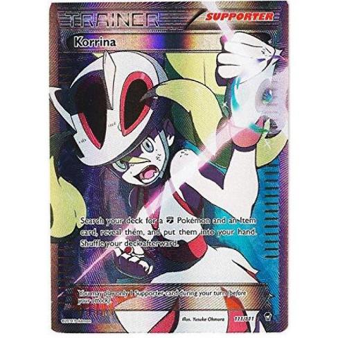 Pokemon X and Y Furious Fists Ultra Rare Full Art Korrina #111 - image 1 of 1