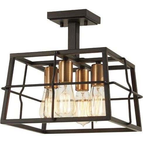 "Minka Lavery 4769 4 Light 13"" Wide Semi-Flush Square Ceiling Fixture from the Keeley Calle Collection - image 1 of 1"
