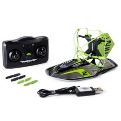 Air Hogs 2-in-1 Hyper Drift Drone for Kids, Capable of High Speed Racing and Flying - Green