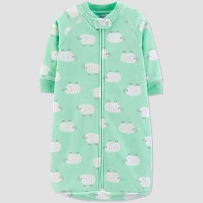 Baby Sheep Sleepbag 1pc Pajama - Just One You® made by carter's Teal One size