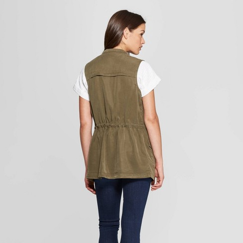 Women s Utility Military Jacket - Universal Thread™ Olive   Target 016172267