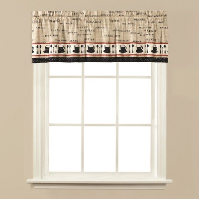 "Saturday Knight Ltd Cafe 2-Piece Window Tier Pair With 3/4"" Rod Pocket - 57x36"" Linen"