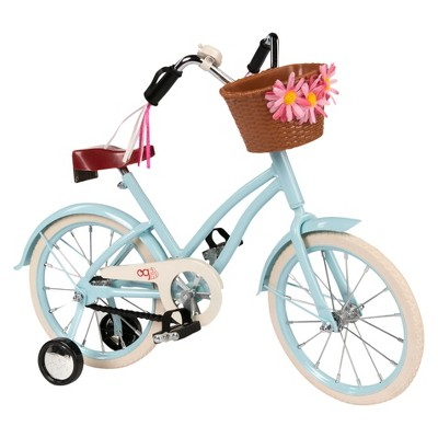 """Our Generation Anywhere You Cruise 18"""" Doll Bicycle - Blue"""