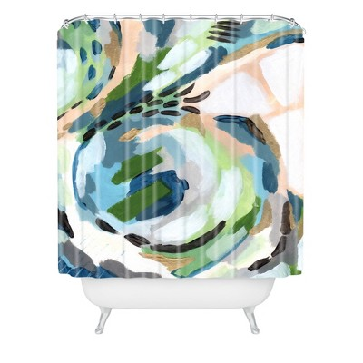 Laura Fedorowicz Greenery Shower Curtain Green - Deny Designs