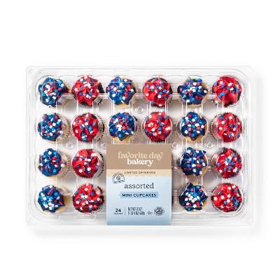 Patriotic Assorted Mini Cupcakes - 24ct - Favorite Day™