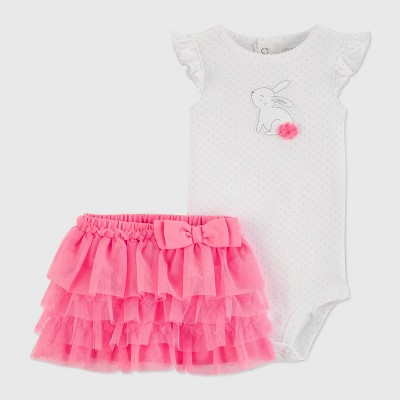 Baby Girls' Pom Bunny Set - Just One You® made by carter's Pink 3M