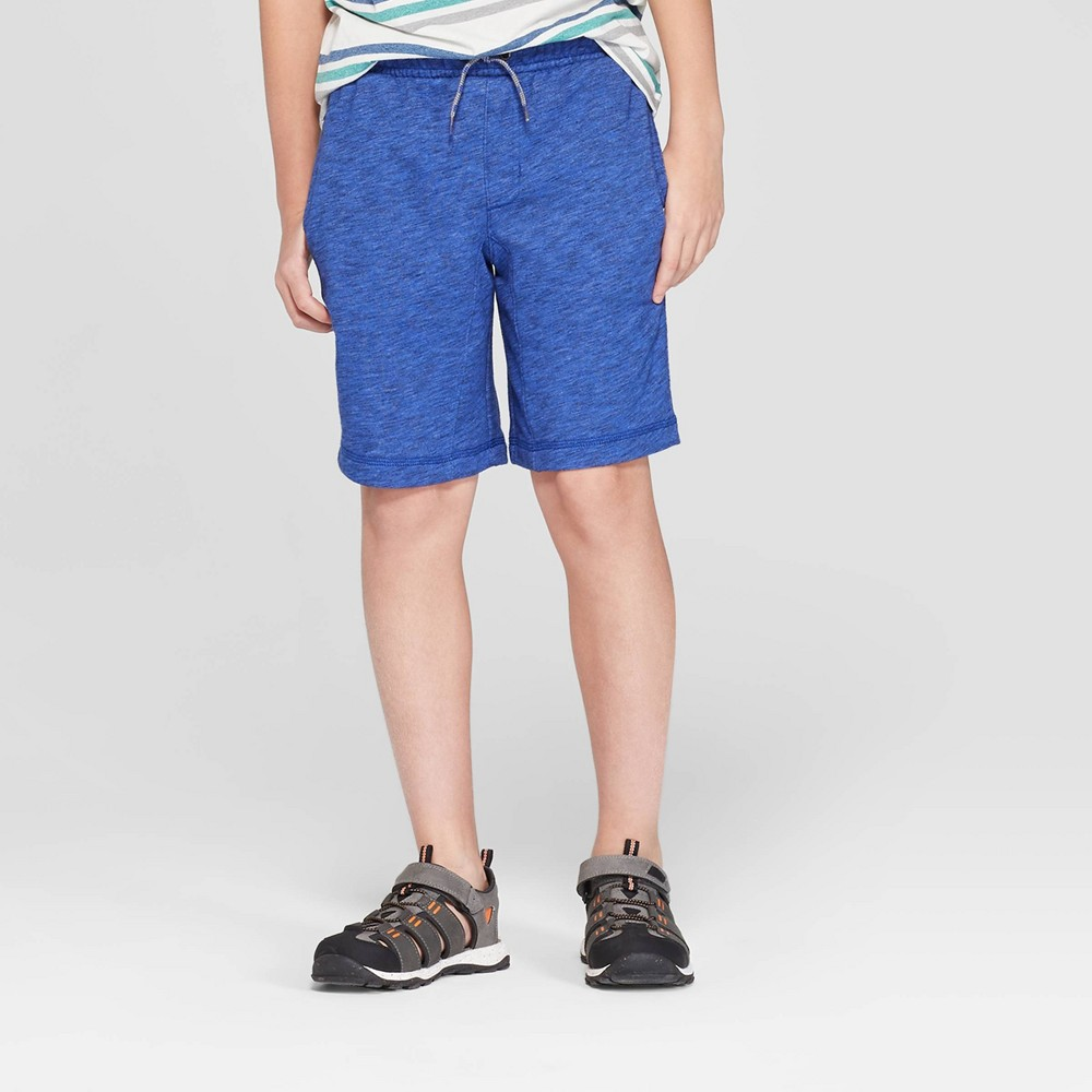 Image of Boys' Knit Jogger Shorts - Cat & Jack Blue XXL, Boy's