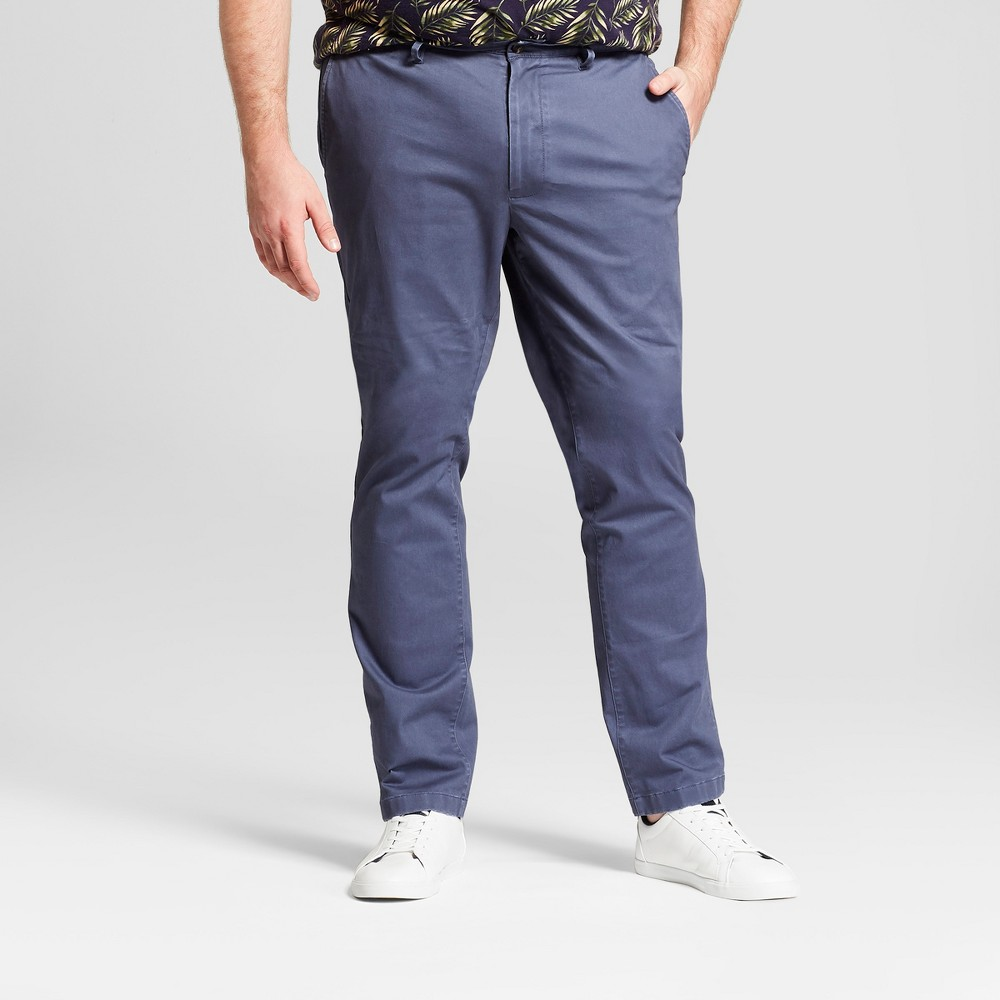 Men's Tall Slim Fit Hennepin Chino Pants - Goodfellow & Co Navy 40X36, Blue