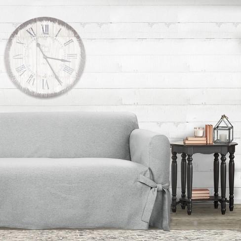 Farmhouse Basketweave Sofa Slipcover Oatmeal Sure Fit