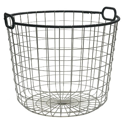 Wire Floor Basket - Black - Room Essentials™